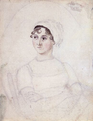 NPG 3630,Jane Austen,by Cassandra Austen