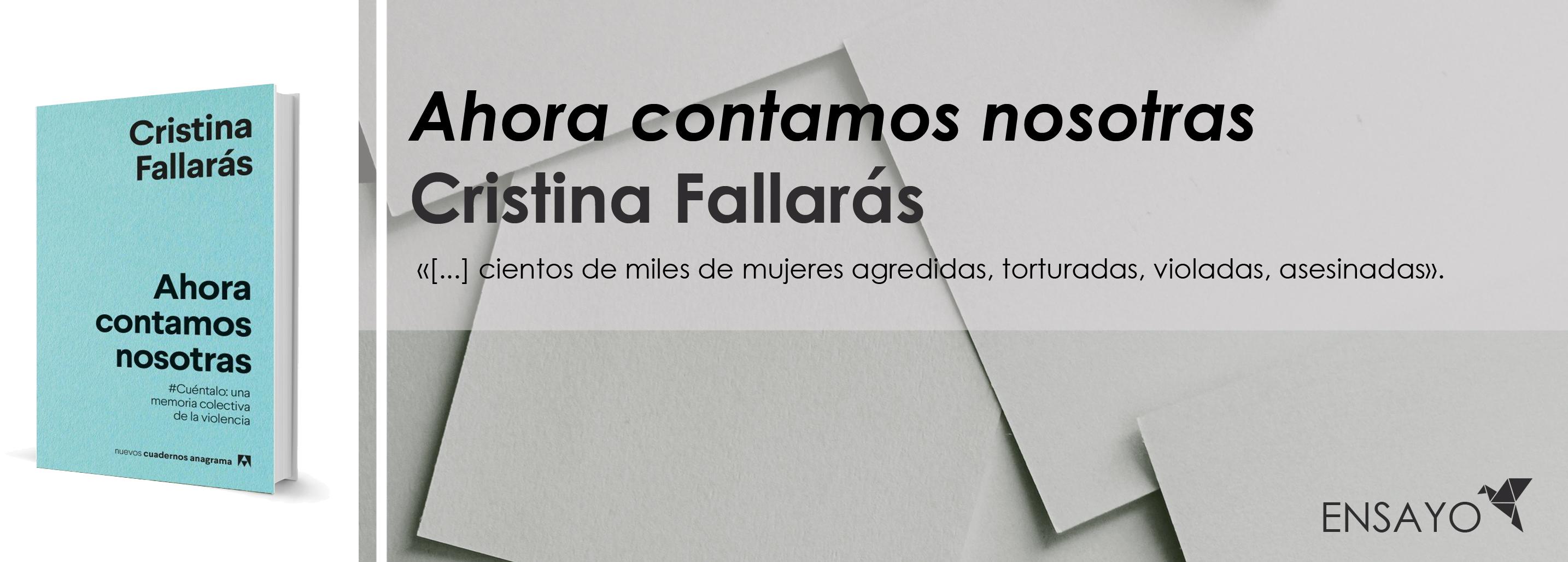 #LeoAutorasOct|Ahora contamos nosotras, de Cristina Fallarás